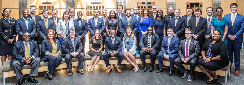 group photo of georgia southern's 40 under 40 alumni