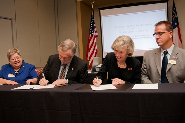 08-01 Georgia Southern University and Armstrong Atlantic State University Sign Articulation Agreement for Engineering Programs