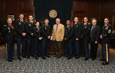 12-12 Eagle Battalion Hosts ROTC Commissioning Ceremony