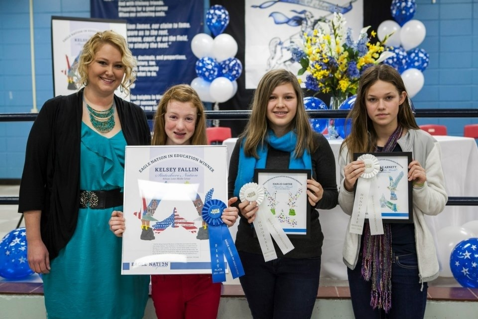 12-13 William James Middle School Student Wins Eagle Nation In Education Competition