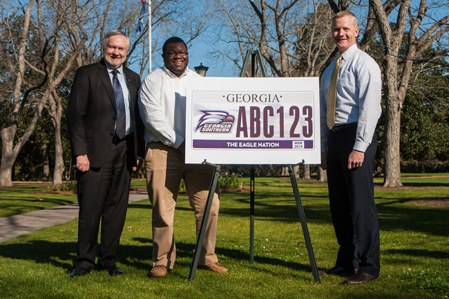 3-15 New license plate unveiled for Eagle Nation
