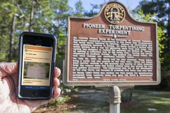 4-18 Georgia Southern designs historical markers app for smartphones