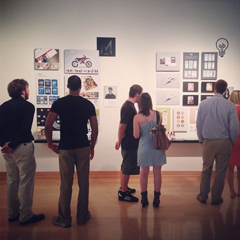 4-26 Exhibit opens featuring graphic design students