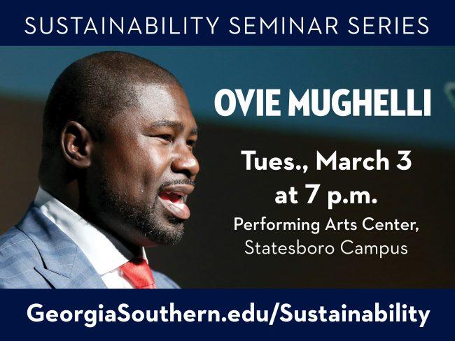 Ovie Mughelli CfS Sustainability Seminar Series