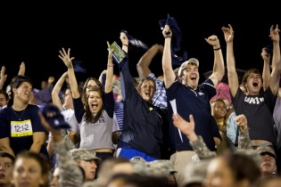 Georgia Southern students cheer for the Eagles during DAY ONE 2012.