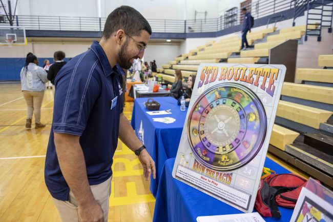 One of the health fairs organized by Georgia Southern students was earlier this year at Beach High School in Savannah.