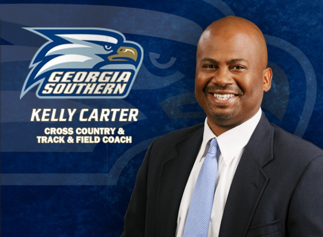 Veteran and NCAA All-American Kelly Carter was named Georgia Southern's Cross Country and Track and Field Coach on July 17, 2014.