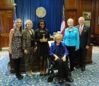 Karen Paty, Betty Foy Botts, Shaunté Francois, Betty Foy Sanders, Sandra Deal, Gov. Nathan Deal Wednesday, Oct. 5, 2016, Governors Awards for the Arts & Humanities 2016, at Capitol Building in Atlanta, Ga.