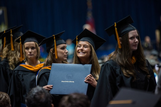 Georgia Southern University today held its 23rd Fall Commencement at Hanner Fieldhouse, 590 Herty Drive.