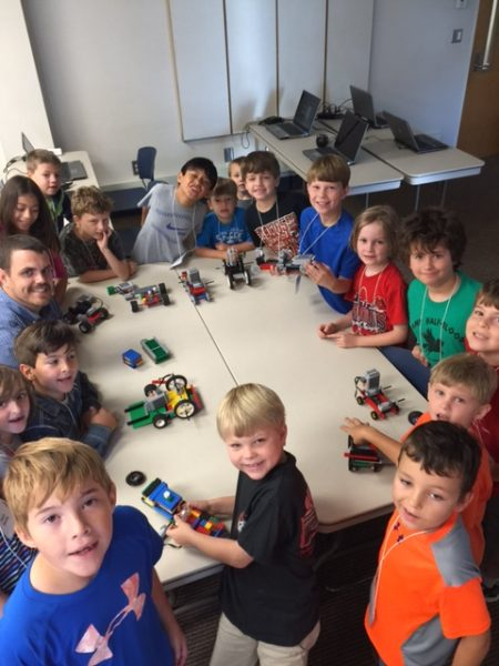 Children learn about robotics using Legos