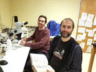 Jackson Tomlinson, left, worked with Dmitry Apanaskevich, Ph.D., on his thesis project, which led to the discovery of two new species of African ticks.