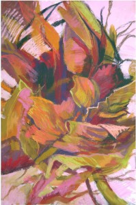 "Patricia Walker PALMETTO BARK 48x34"" pastel with gouache"