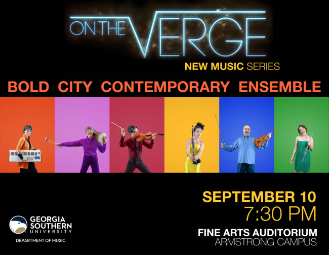 On the Verge New Music Series is Sept. 10 at 7:30 p.m. in the Fine Arts Auditorium on the Armstrong Campus.