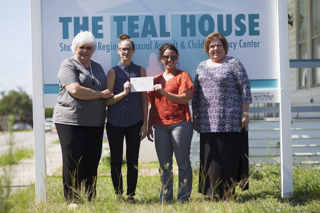 Georgia Southern Health Services makes donation to the Teal House