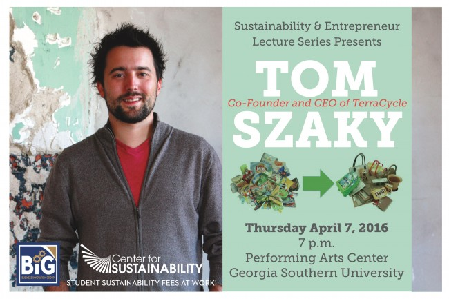 Tom Szaky Sustainability & Entrepreneur Lecture Series